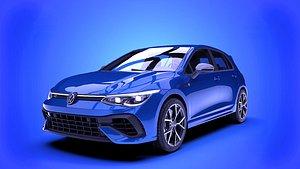 3D Volkswagen Golf R 2022