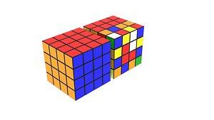 Rubik's Cube 4x4x4 3D
