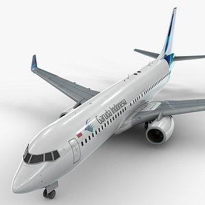 boeing 737-8 garuda indonesia 3D