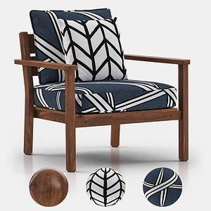 3D capri stacking lounge armchair