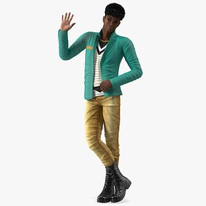 3D model Light Skin Teenager Fashionable Style Standing Pose