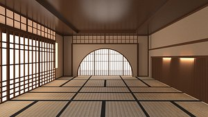 Japanese training dojo 2 3D model