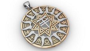 Slavic horoscope set 16 pieces
