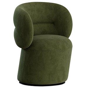 moroso chair armchair 3D model