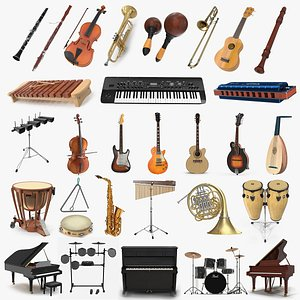 musical instruments 9 3D model