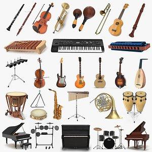 musical instruments 9 3D model