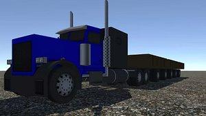 industrial long truck 3D model