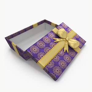 Gift Box Open Purple 3D model