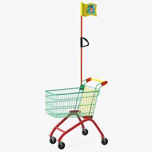 Kid Size Shopping Cart 3D model