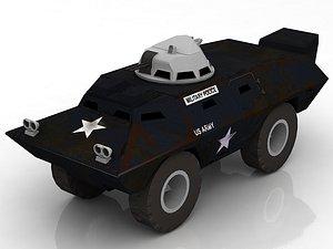 3D V100 Armored Patrol Car