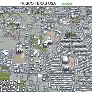3D Frisco Texas USA model