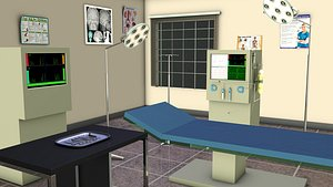 Surgical instruments in operation theatre 3D model
