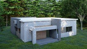 3D Modern House 3 model