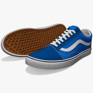 vans old skool shoes 3D model