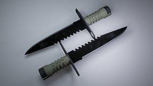 3D army knife model