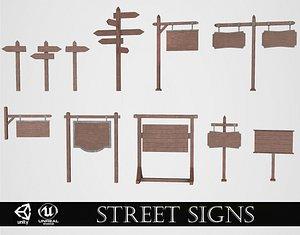 Medieval Street Signs 3D model