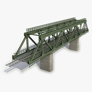 3D railway bridge rail