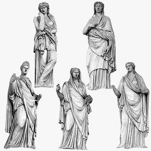 Renaissance Sculpture Masterpiece Pack model