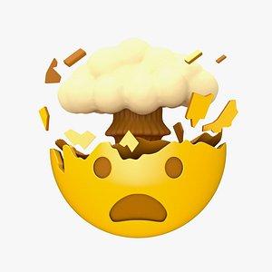3D Apple Exploding Head model