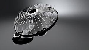 3D Wall fan model