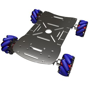 3D mecanum robot platform model