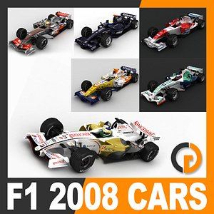 3D model cars helmets renault f1