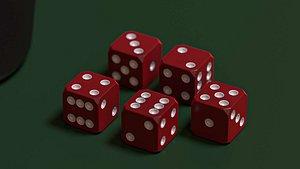 3D model Game of dice