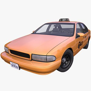 generic american taxi 3D model