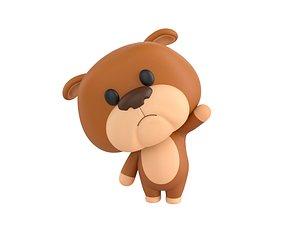 3D model Character145 Rigged Bulldog