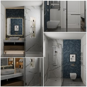 3D Bathroom B model