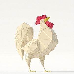 3D rooster model