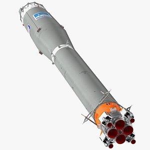 3D Soyuz 2 Rocket Stage 2 model