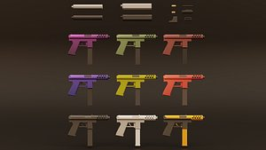 Low Poly Tec-9 Weapon