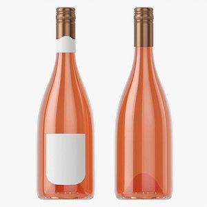 Wine bottle mockup 14 screw cap model