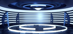 3D Column package science fiction technology virtual studio future concise luminous advertising backgro