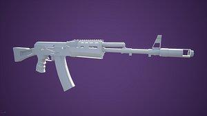 AK Kalshnikov Rifle 3D model