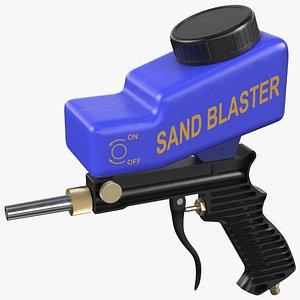 sand blaster gun blue model