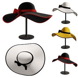 3D model Woman hat 3