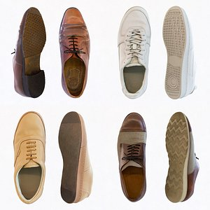 Male Shoes Collection 3D model