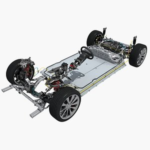tesla 3 chassis 3D model