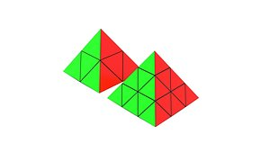 Pyraminx Collection 3x3x3 and 2x2x2 3D