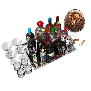 alcohol rack 3D model