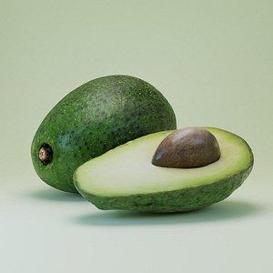 3D model Avocado pear AvoDerm  Butyrospermum parkii
