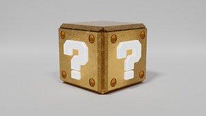 3D Mario Question Mark Block - Brick Block - Warp pipes model