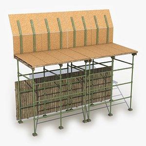 Scaffolding Sideway 2 3D model