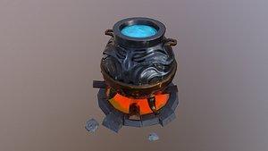 3D model Wizard Cauldron