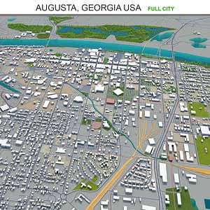 3D model Augusta Georgia USA