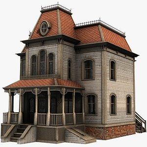 realistic bates mansion 3d model