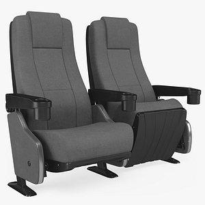 Cinema Chair PBR 8K Textures 3D model