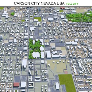Carson Nevada USA 3D model